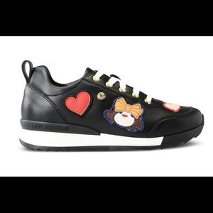 Love Moschino Black Sneakers Size 11